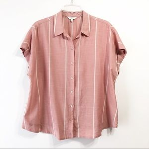 Women's Lucky Brand Red Square Button Down Shirt